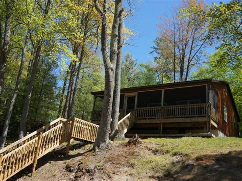 Traverse City Cabin Rentals by And Cozy Cabin On Inlet Of Spider Lake And