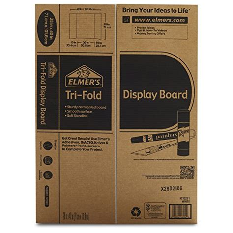 Elmer S Tri Fold Display Board White 28x40 Inch Pack Of 12 Buy Online In Uae Office Tri Fold Presentation Board Templates