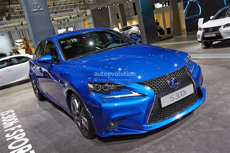 sporty lexus blue 2014 lexus is 300h f sport in ultra blue at frankfurt 2013