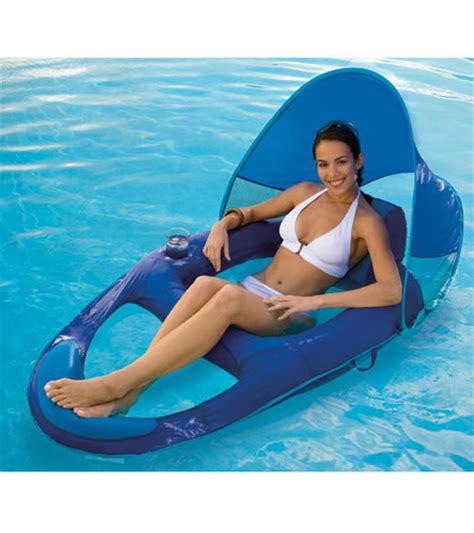 swimways float recliner with canopy at swimoutlet
