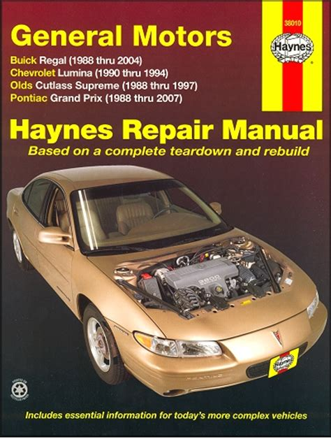 1997 pontiac grand prix repair shop manual original 2 volume set regal cutlass supreme grand prix lumina repair manual 1988 2007
