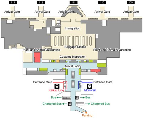 tokyo station floor plan trains and monorails haneda airport international terminal