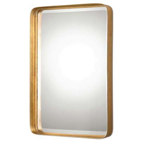 Crofton Antique Gold Mirror Uttermost Wall Mirror Mirrors Gold Bathroom Mirror