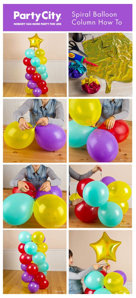 How To Make Decorations For Birthday by Balloon Columns On Balloon Centerpieces