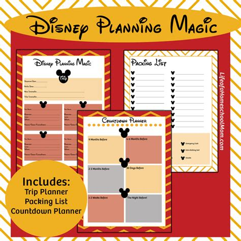 free printable disney vacation planner free printable disney trip planning kit money saving mom 174