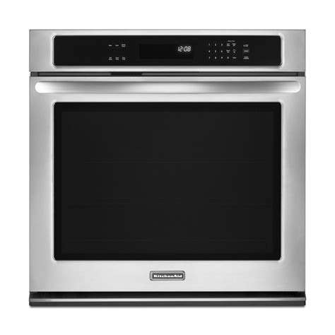 kitchenaid built in kitchenaid kebk101bss 30 quot built in single wall oven