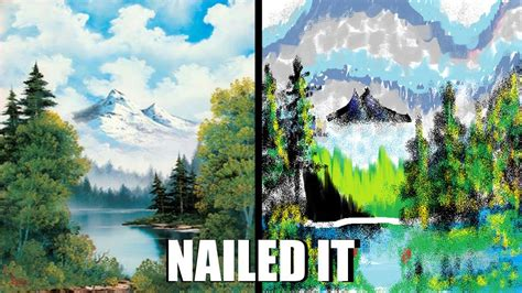 bob ross painting where to buy bob ross vs ms paint by link1ovaganon on deviantart