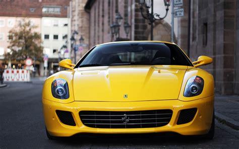 fiorano cars 599 gtb fiorano yellow car 6969485