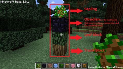 custom tree custom tree mod for minecraft 1 7 10 and 1 7 2
