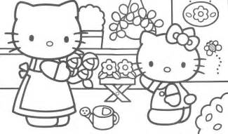 flower kitty coloring pages gt gt disney coloring pages