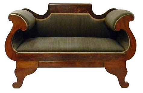 horsehair sofa empire style sofa c 1900 black horsehair fabric by