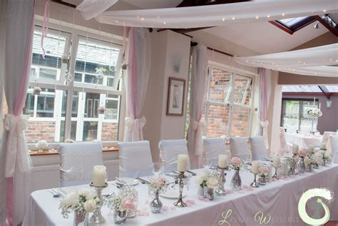 pink and silver table white and pink wedding laurel weddings