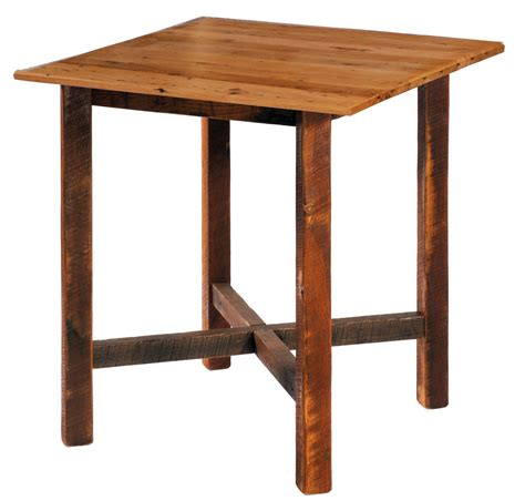 Square Bar Table Barnwood 40 Quot Antique Oak Top Square Pub Table From Fireside Lodge B16208 Ao Coleman Furniture