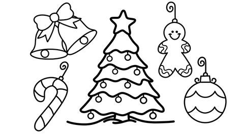 christmas tree decorations printable how to draw tree and decorations for tree coloring pages