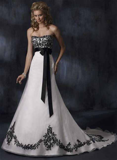 White Black Wedding Dresses by Black White And Wedding Dresses