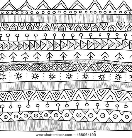 african tribal patterns coloring page tribal black white seamless pattern indian stock vector