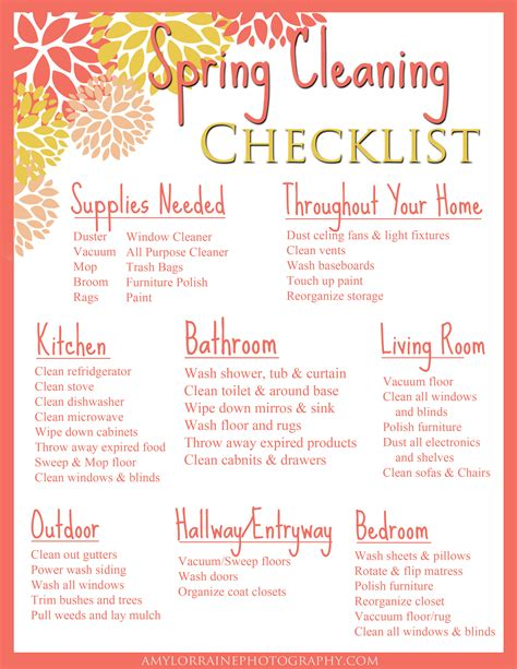 spring cleaning checklist sunday funday free printable spring cleaning checklist