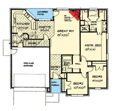 the gunter ridge 1603 3 bedrooms and 2 5 baths the compact elegance 48494fm architectural designs house