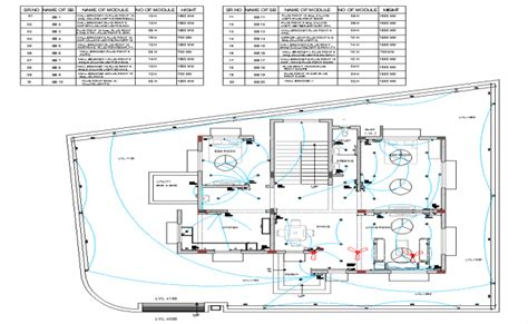 residential house plan view detail electrical plan layout