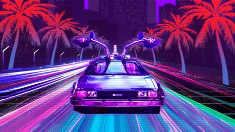 retro lux cars retrowave  hd cars  wallpapers