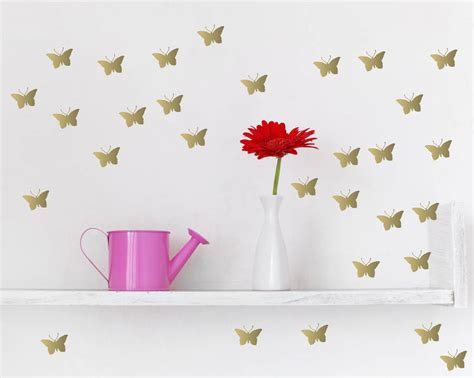 metallic wall stickers metallic gold butterfly wall stickers by parkins interiors