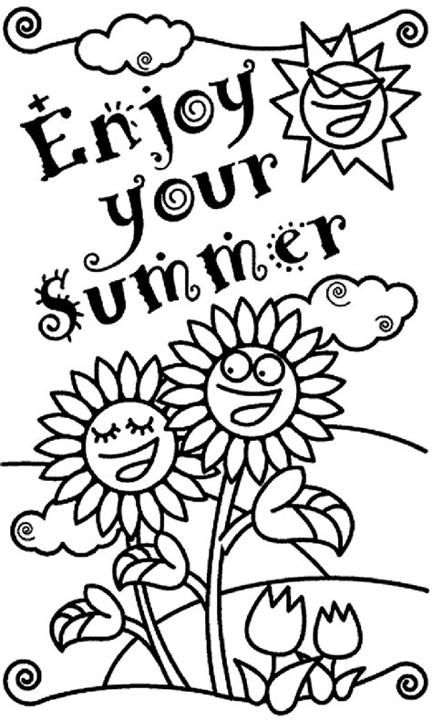 coloring book pages the transmissionpress enjoy your summer coloring pages