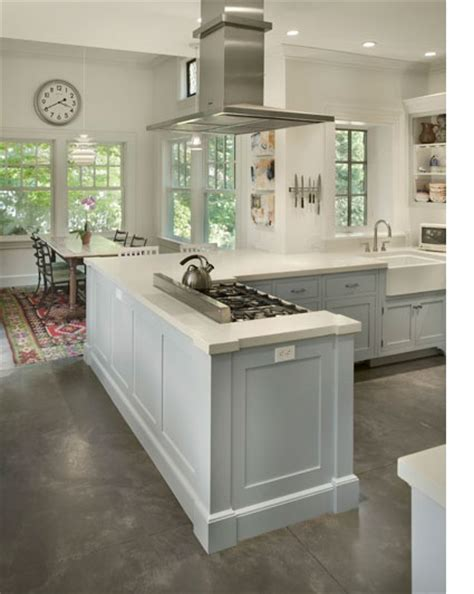 Kitchen Islands Ideas With Seating grey concrete floors with white kitchen floors 2 jpg 425