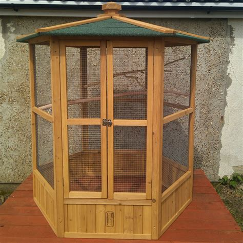New Design Wooden Hexagonel Type wooden aviary hexagonal flight house cage ideal for birds chipmunks cats new ebay