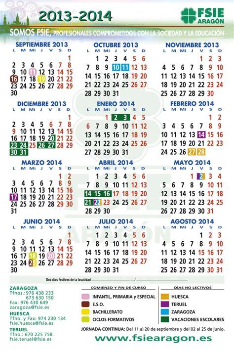 Calendario Escolar Aragon 2013 Y 2014 Calendario Escolar