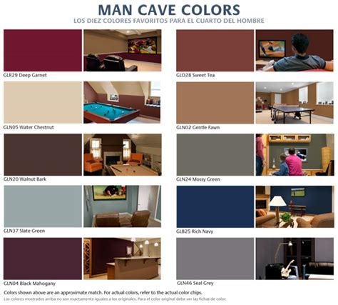 top10 cave colors from glidden the home depot jpg 650 215 586 pixels a space for him