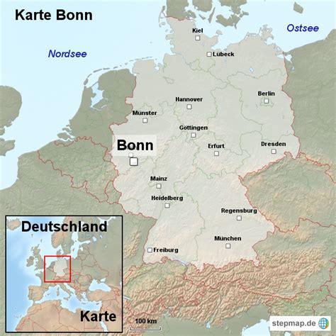 Deutsches Büro Grüne Karte Formular by Karte Bonn Ortslagekarte Landkarte F 252 R Deutschland