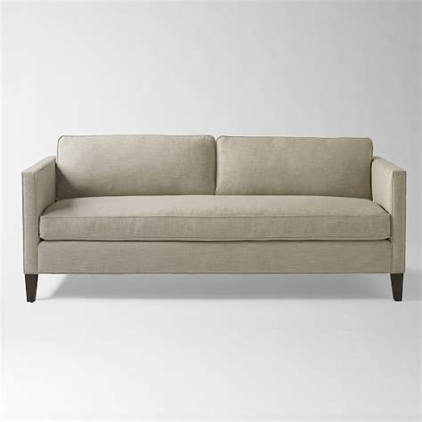 west elm couch dunham down filled sofa box cushion west elm