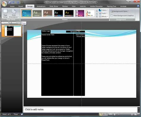twitter layout for powerpoint create twitter backgrounds using powerpoint 2007
