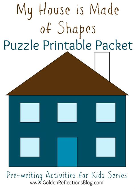 kindergarten activities my house my house is made of shapes puzzle printable packet pre