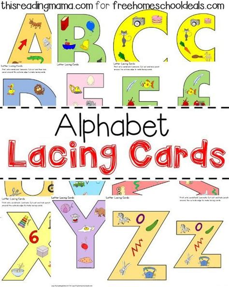 Alphabet Lacing Cards Templates by 8 Best Things That Begin With D Images On