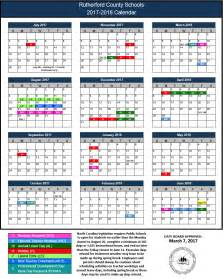 School Calendar 2018 2017 2018 Rcs Calendar Rutherford County Schools