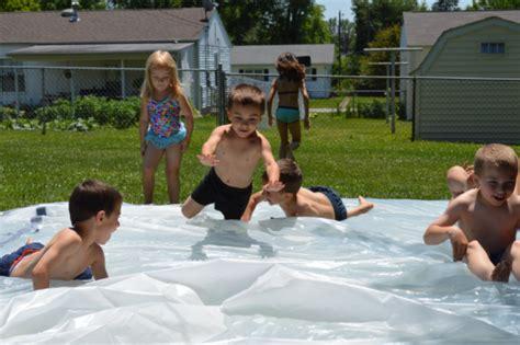 diy backyard water fun diy water blob for kids summer outdoor fun kidsomania