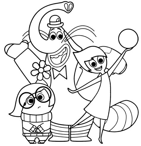 inside out team printable coloring page for kids and adults inside out coloring pages best coloring pages for kids