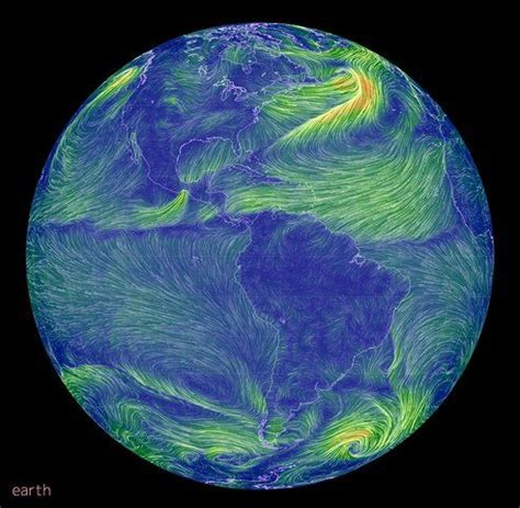 earth wind map hypnotically beautiful real time wind map of earth created by supercomputers treehugger