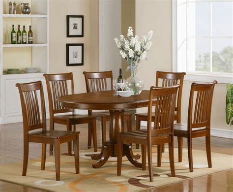dining room tables sets 7 pc oval dinette dining room set table and 6 chairs