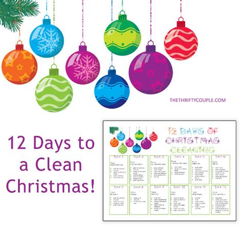 12 days to a clean christmas cleaning plan with printable