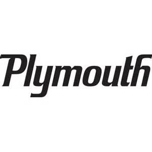 Plymouth logo decal sticker plymouth logo