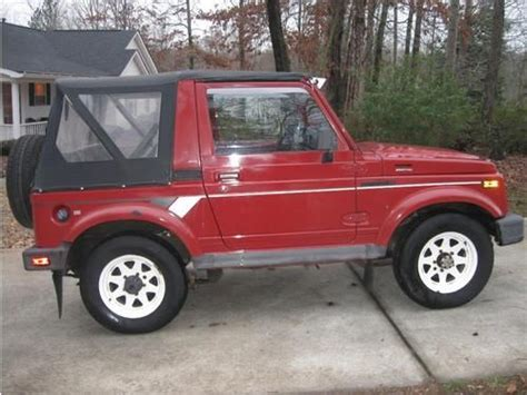 Suzuki Samurai 4x4 For Sale Purchase Used 1988 Suzuki Samurai 4x4 Low All
