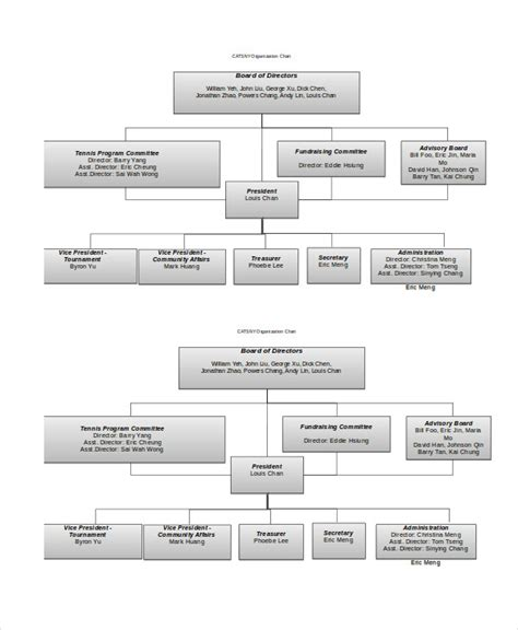 organizational chart template doc organizational chart 9 free word pdf documents