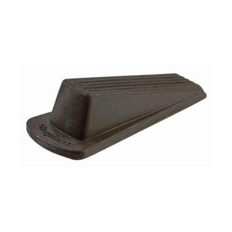 shepherd large brown rubber heavy duty door stop 9133