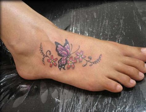 flower foot tattoo designs 35 splendid foot butterfly tattoos and designs