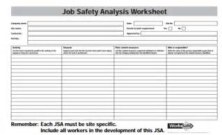 Jha Template by 28 Jha Template Hazard Analysis Template
