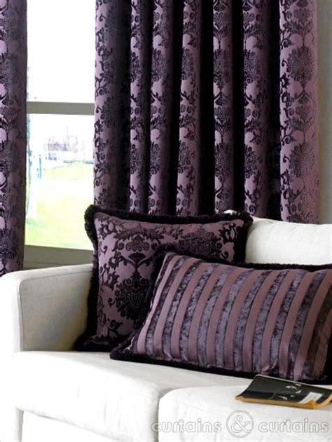 luxury purple curtains dulux luxury heavy velvet purple pencil pleat curtain