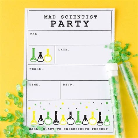 17 Best Images About Mad Science Party On Pinterest Science Party Birthday Party Invitations Free Science Birthday Invitation Templates