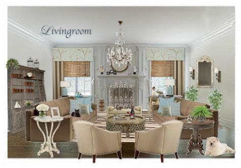 casual french country living room by designsbyvalerie